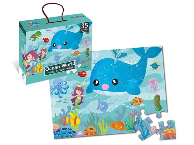LG Imports vloerpuzzel Ocean World 44 x 60 cm 35 delig multicolor kopen