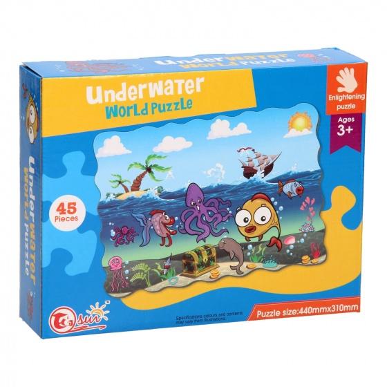 LG Imports vloerpuzzel Underwater World 44 x 31 cm 45 delig multicolor kopen