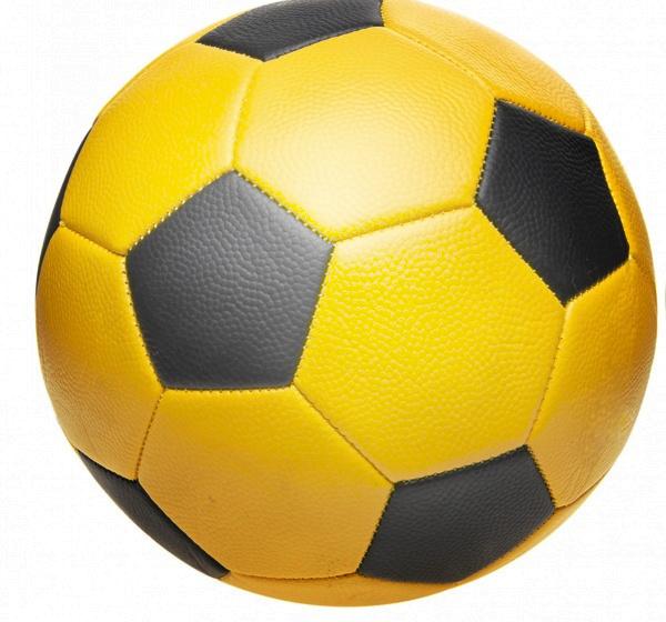 LG Imports voetbal junior 22 cm geel