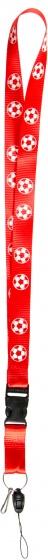 LG Imports voetbal keycord rood
