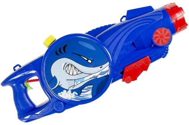 LG Imports waterpistool blauw/rood haai 25 cm