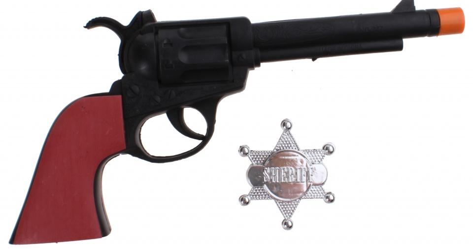 LG Imports western cowboy pistool met badge 24 cm