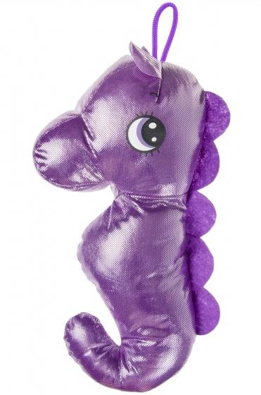 LG Imports zeepaardenknuffel 40 cm meisjes paars
