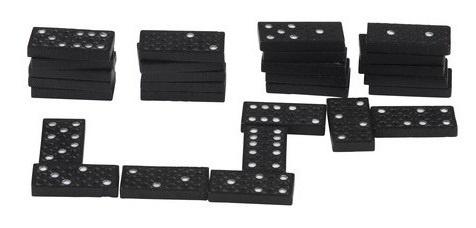 Lifetime Games Kunststof dominospel 28 stenen 35 mm zwart
