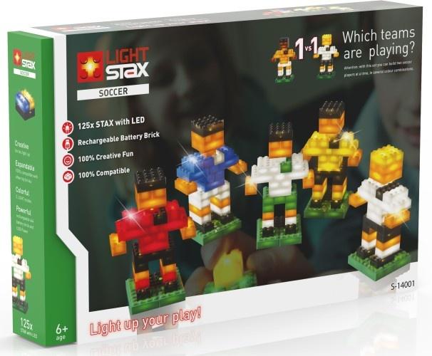 Light Stax Uitbreidingsset mix met kabel voetbal 125 stuks