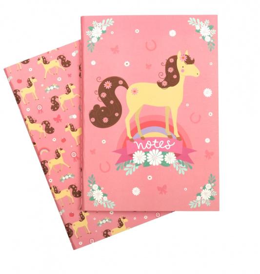 A Little Lovely Company schriften Paard meisjes 21 cm papier roze 2 delig