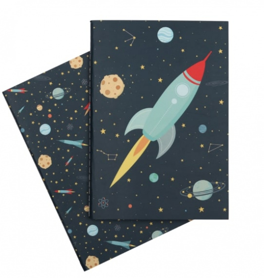 A Little Lovely Company schriften Space junior 21 cm papier 2 delig