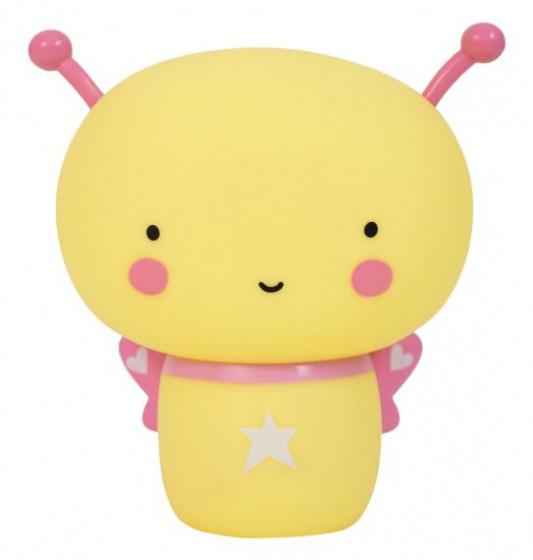 A Little Lovely Company spaarpot Vlinder meisjes 14,5 cm PVC geel/roze