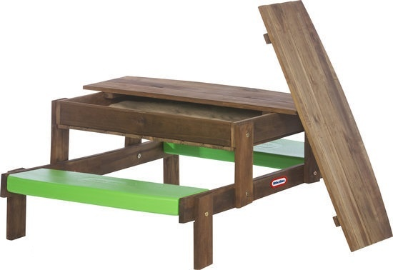 Little Tikes 2 in 1 Houten Zand/Picknick Tafel