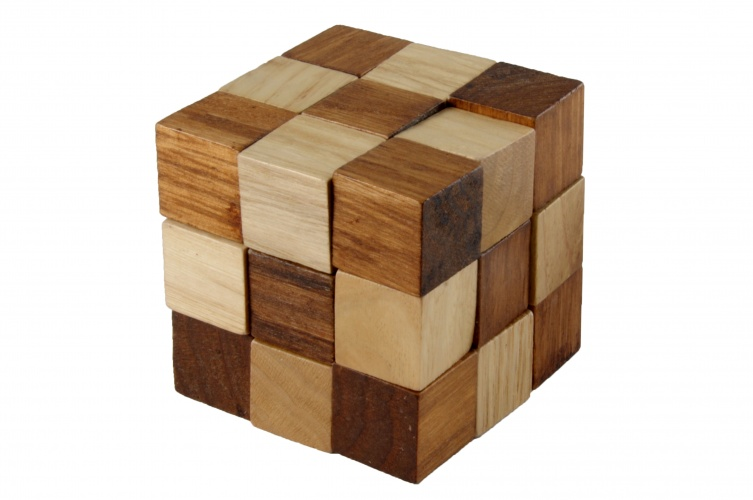 Longfield Games Houten IQ Puzzel Kubus