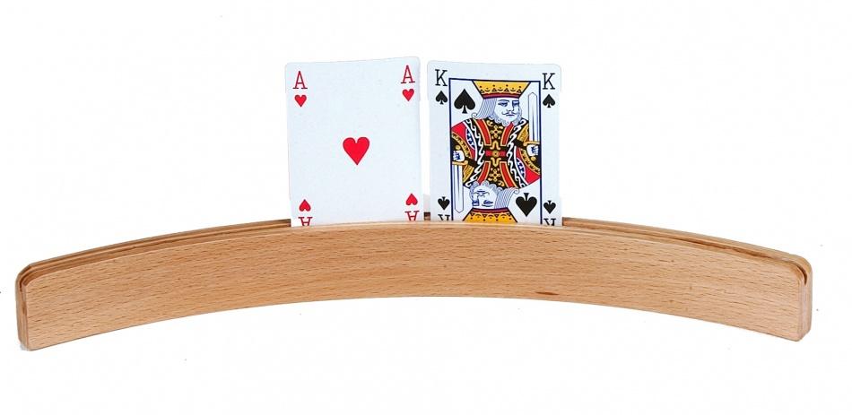 Longfield Games Houten Kaarthouder Gebogen 52cm Per 4 Stuks