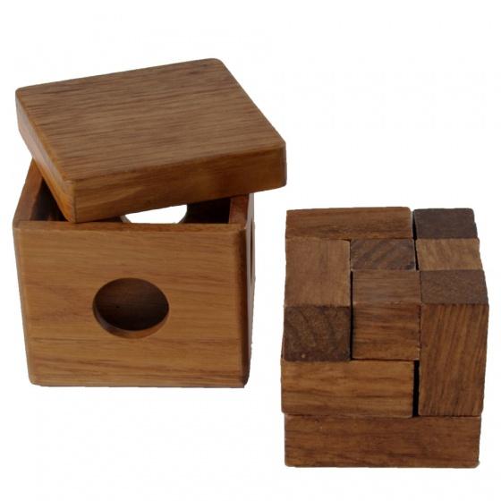 Longfield Games IQ puzzel Brain Teaser kubus 7 x 7 cm
