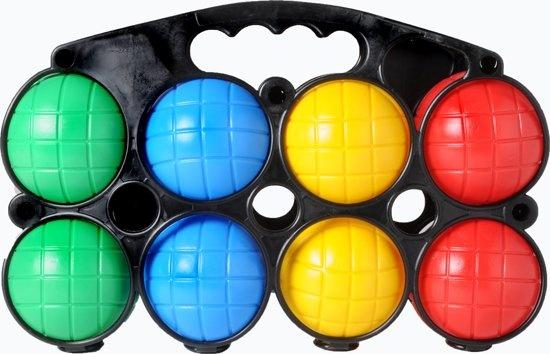 Longfield Games Jeu De Boules Set Plastic 8 Ballen Gekleurd