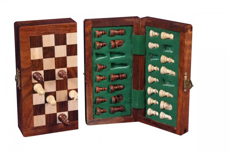 Longfield Games Magnetisch Schaakset Opklapbaar 13 X 25cm