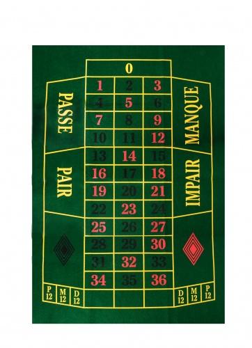 Longfield Games Roulettekleed Groen 130 X 90 cm
