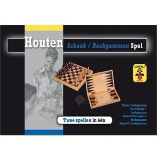 Longfield Games Schaak/Backgammon Opklapbaar