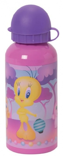 Looney Tunes Tweety Bidon Aluminium 400 ml roze