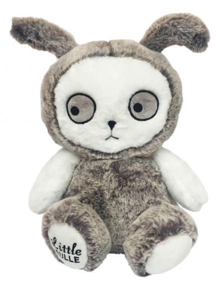 LuckyBoySunday knuffelkonijn junior 30 cm polyester grijs