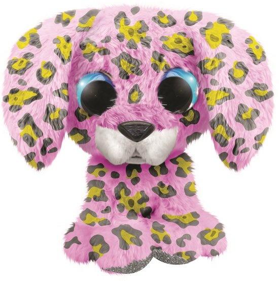Lumo Stars knuffel Lumo Dalmatian Dog Dotty roze 15 cm