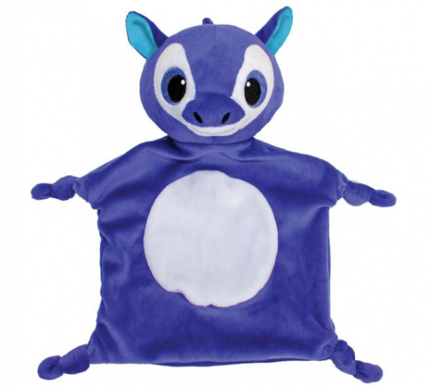 Lumo Stars knuffeldoekje Baby Line Unicorn blauw 20 x 30 cm