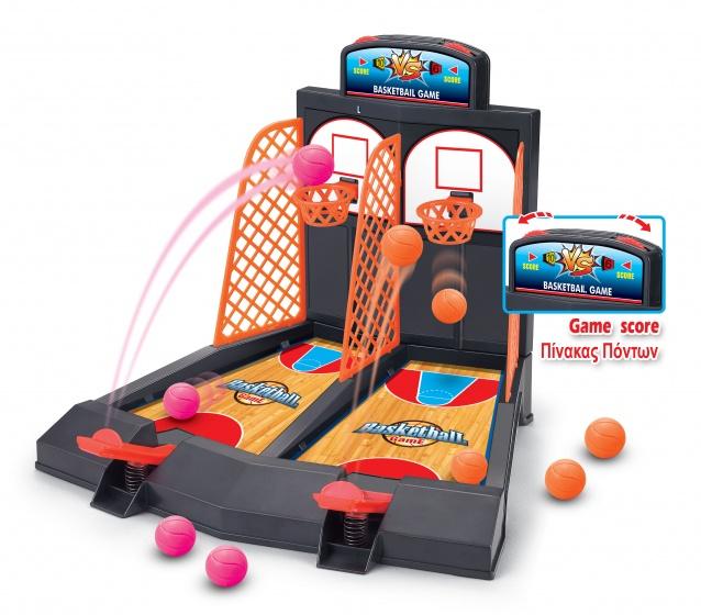 Luna basketball game 41 cm zwart/oranje