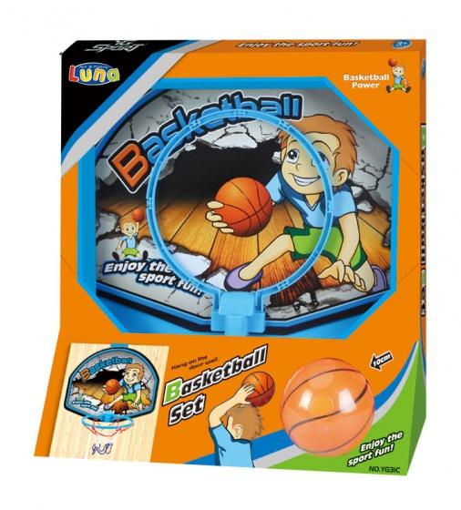 Luna basketbalring Set 19,5 cm blauw