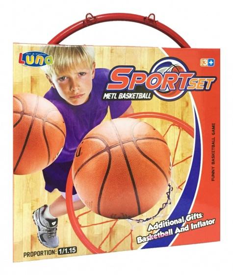 Luna basketbalring Sportset 32,5 cm oranje