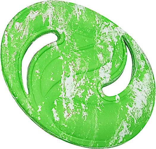 Luna frisbee junior 22,5 cm groen/geel