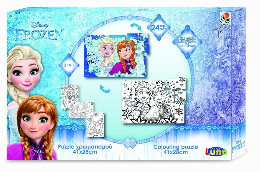 Luna Frozen 2 zijdige puzzel 24 stukjes
