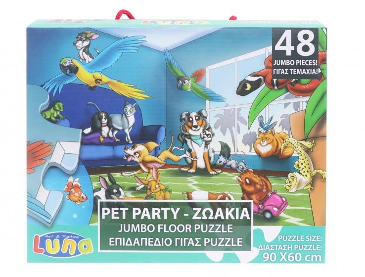 Luna legpuzzel dierenfeest 48 stukjes
