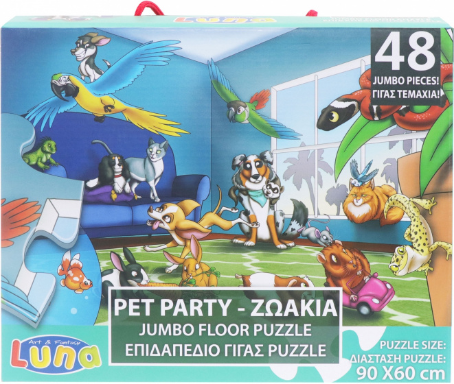 Luna legpuzzel Pet Party junior karton 48 stukjes