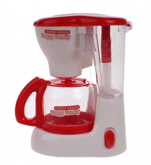 Luna speelgoed koffiezetapparaat junior rood-wit 15 cm