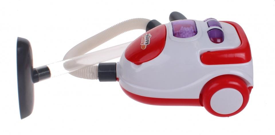 Luna speelgoed stofzuiger junior rood-wit 21 cm