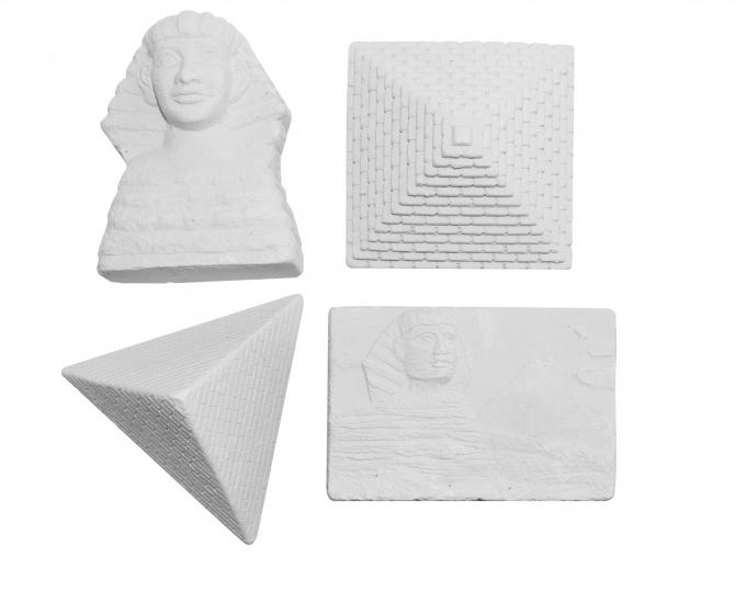 Luna uithakstenen oude Egypte wit