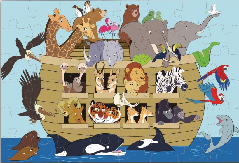 Luna vloerpuzzel Ark van Noach 48 stukjes