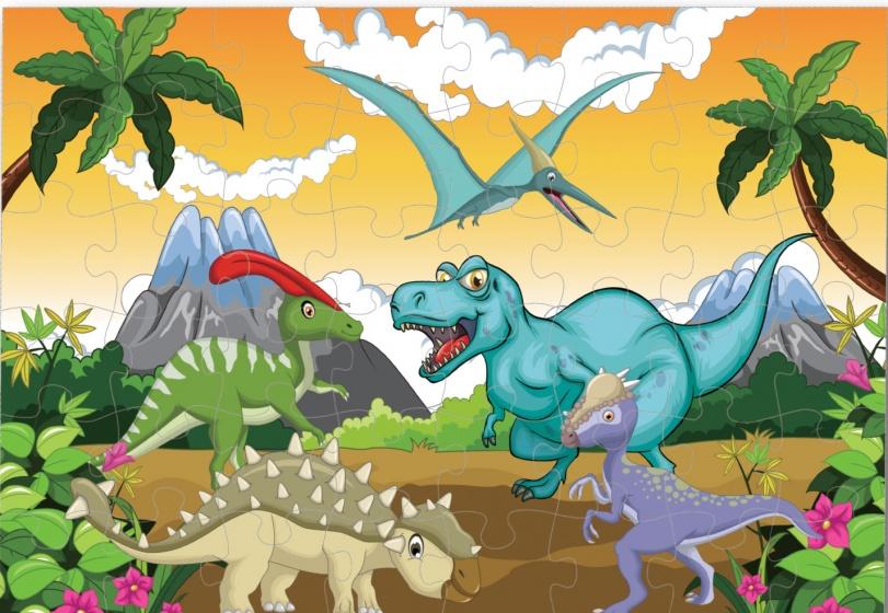 Luna vloerpuzzel dinosaurus 48 stukjes kopen
