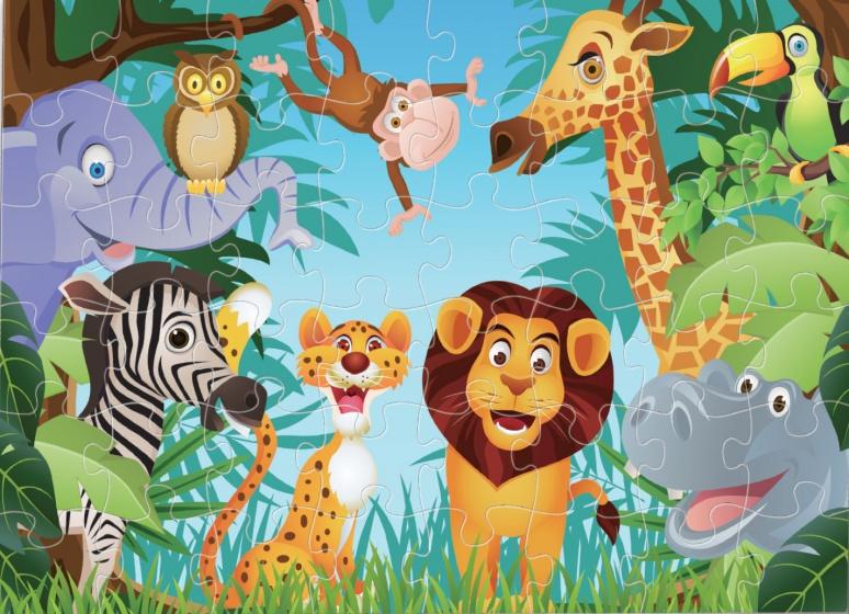 Luna vloerpuzzel jungle 48 stukjes kopen
