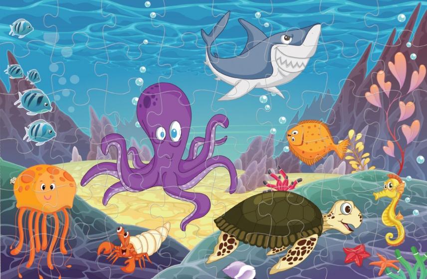 Luna vloerpuzzel onder water wereld 48 stukjes