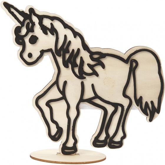 Made of Wood houten figuur om te decoreren Paard 19 cm