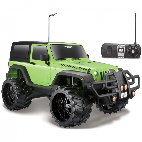 Maisto Jeep Wrangler Rubicon Off Road 1:16 27-40 MHz groen