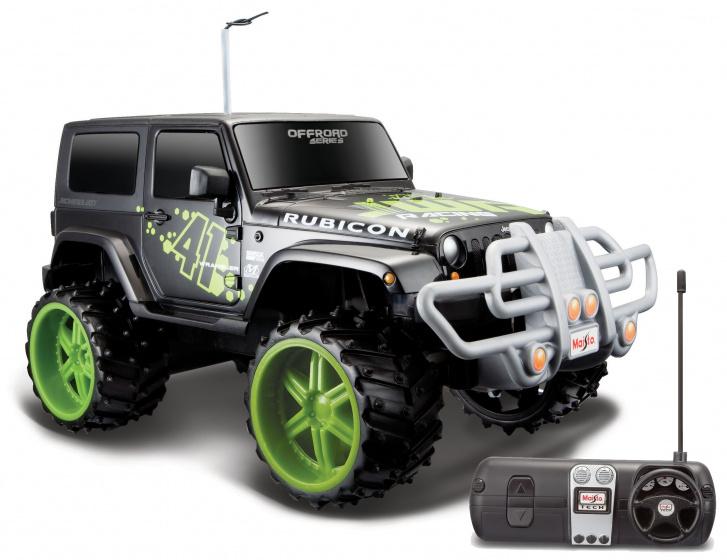 Maisto Jeep Wrangler Rubicon Off Road 1:16 27-40 MHz zwart
