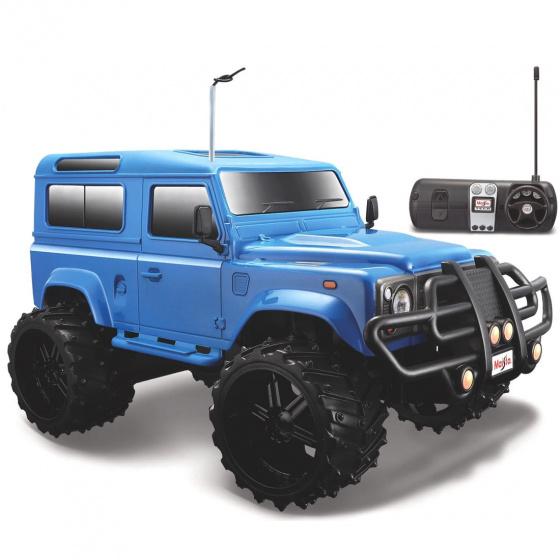 Maisto Tech Land Rover Defender 1:16 27-40 MHz blauw