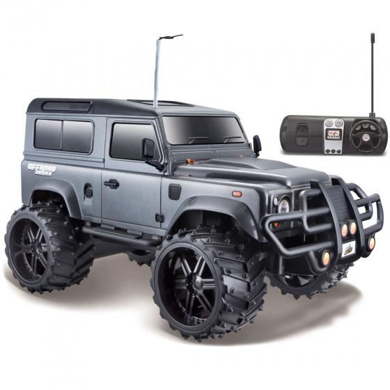 Maisto Tech Land Rover Defender 1:16 27-40 MHz grijs