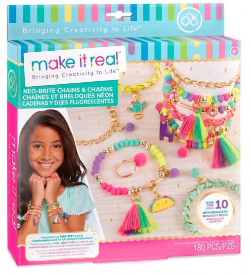 Make it Real Neon Armbandjes met bedeltjes maken