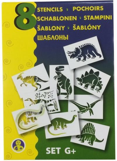 Malinos Blopens blaasstift sjablonen: Dino's