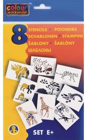 Malinos Blopens blaasstift sjablonen: Wilde dieren