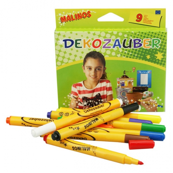 Malinos Deko stiften 9 stuks