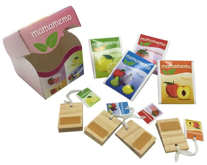 Mamamemo doosje theezakjes hout/karton 6 cm multicolor