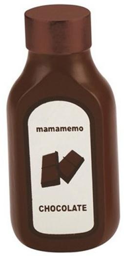 Mamamemo fles chocoladesaus hout 10 cm bruin