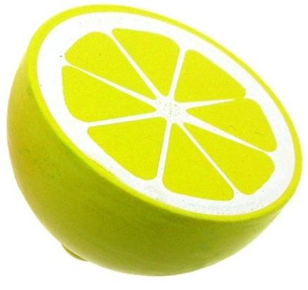 Mamamemo halve citroen hout 4,5 cm geel
